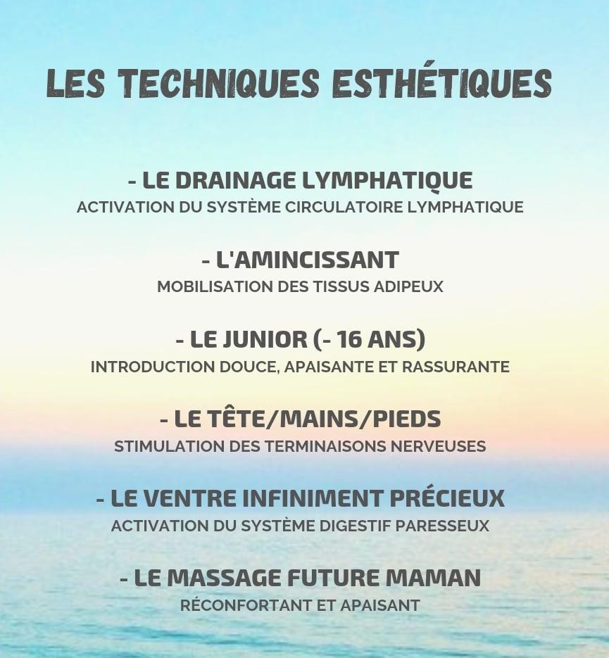 les massages esthetiques
