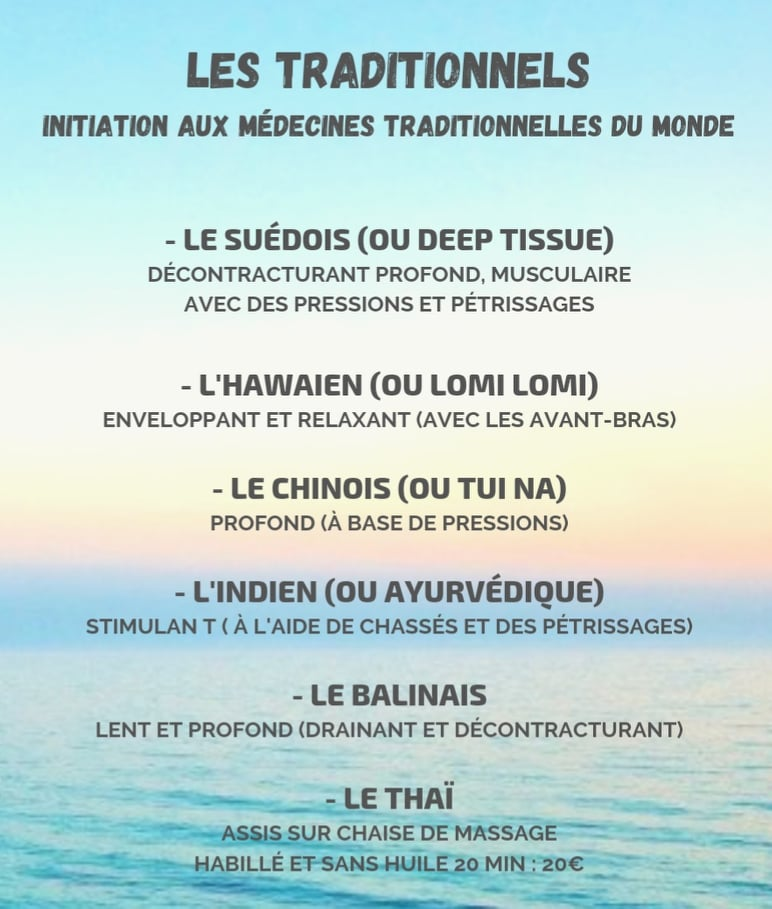les massages tradi